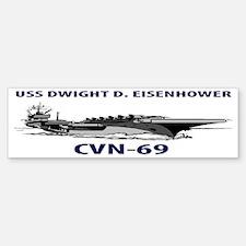 USS DWIGHT D. EISENHOWER CVN-69 Bumper Bumper Sticker