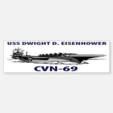 USS DWIGHT D. EISENHOWER CVN-69 Car Car Sticker