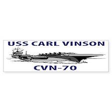 USS CARL VINSON CVN-70 Bumper Sticker
