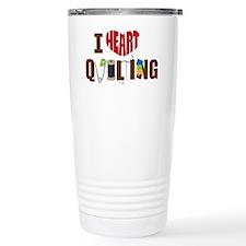 I Heart Quilting Travel Mug