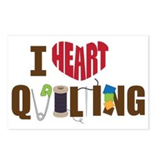 I Heart Quilting Postcards (Package of 8)