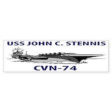 USS JOHN C. STENNIS CVN-74 Bumper Sticker
