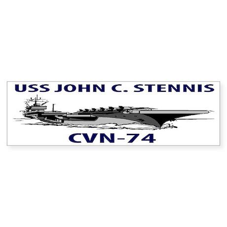 USS JOHN C. STENNIS CVN-74 Sticker (Bumper)