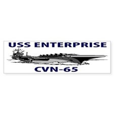 USS ENTERPRISE CVN-65 Bumper Sticker