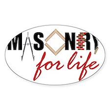 Masonry For Life Decal