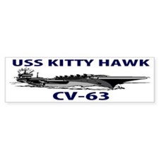 USS KITTY HAWK CV-63 Bumper Sticker