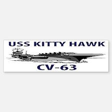 USS KITTY HAWK CV-63 Sticker (Bumper)