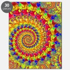 Crazy Yellow Fractal Art Pattern Puzzle