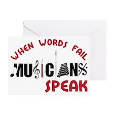 Musicians Speak Greeting Card