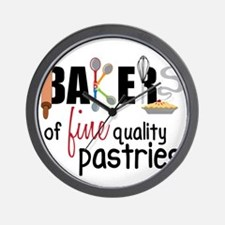 Fine Quality Pastries Wall Clock