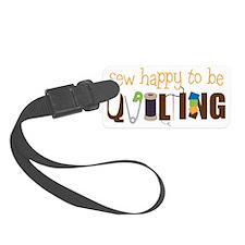 Sew Happy Luggage Tag