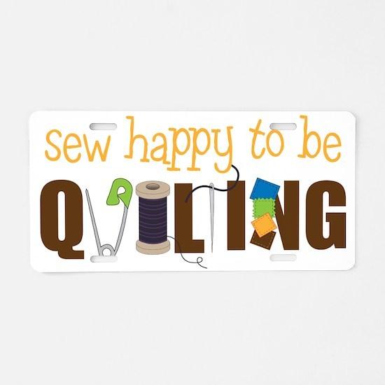 Sew Happy Aluminum License Plate
