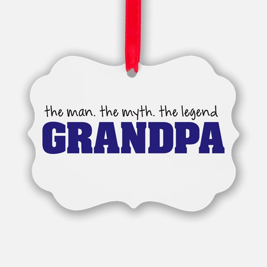 Grandpa Man Myth Legend Ornament