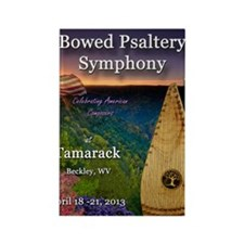 The 4th Annual Bowed Psaltery Sym Rectangle Magnet
