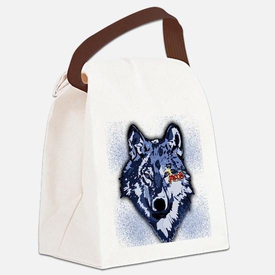Twilight Indigo Jacob Wolf Canvas Lunch Bag