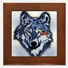 Twilight Indigo Jacob Wolf Framed Tile