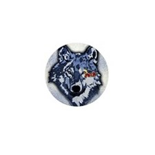 Twilight Indigo Jacob Wolf Mini Button