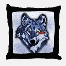 Twilight Indigo Jacob Wolf Throw Pillow