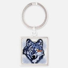 Twilight Indigo Jacob Wolf Square Keychain