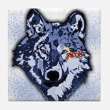 Twilight Indigo Jacob Wolf Tile Coaster
