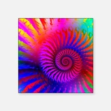 """Psychedelic Pink Rainbow Fr Square Sticker 3"""" x 3"""""""