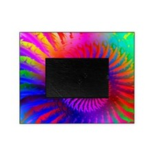 Psychedelic Pink Rainbow Fractal Art Picture Frame