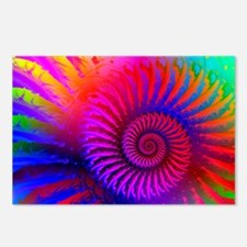 Psychedelic Pink Rainbow  Postcards (Package of 8)