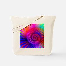 Psychedelic Pink Rainbow Fractal Art Patt Tote Bag