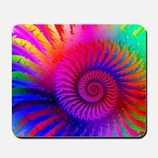 Psychedelic Pink Rainbow Fractal Art Pat Mousepad