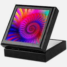 Psychedelic Pink Rainbow Fractal Art  Keepsake Box