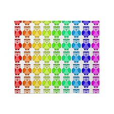 Rainbow Owl Pattern Throw Blanket