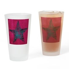 Blue Star Drinking Glass