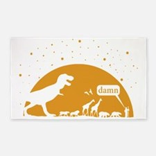 Noah and T-Rex, Witty 3'x5' Area Rug