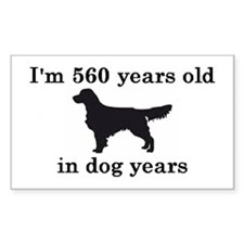 80 birthday dog years golden retriever 2 Decal