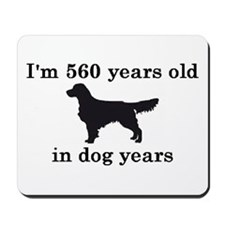 80 birthday dog years golden retriever 2 Mousepad
