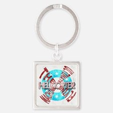 Helicopter Ultimate Square Keychain