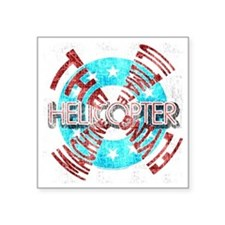 "Helicopter Ultimate Square Sticker 3"" x 3"""