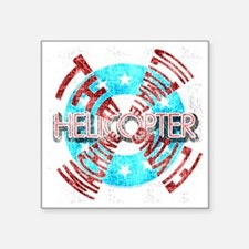 """Helicopter Ultimate Square Sticker 3"""" x 3"""""""