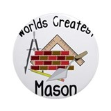 Brick mason Round Ornaments