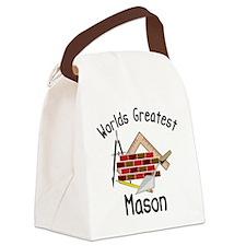 Worlds Greatest Mason Canvas Lunch Bag