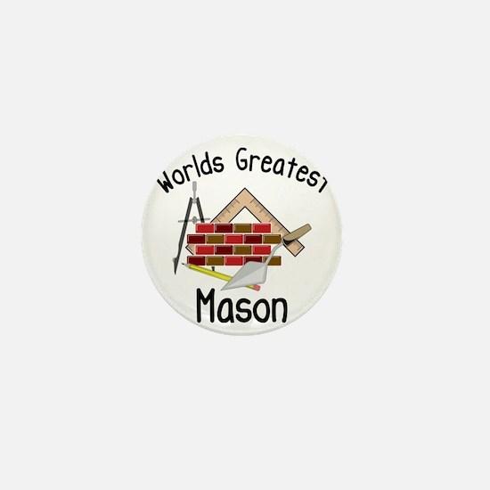 Worlds Greatest Mason Mini Button