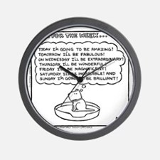 Plan For The Week (Good Morning Monday) Wall Clock