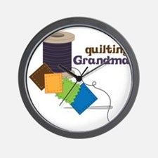 Quilting Grandma Wall Clock