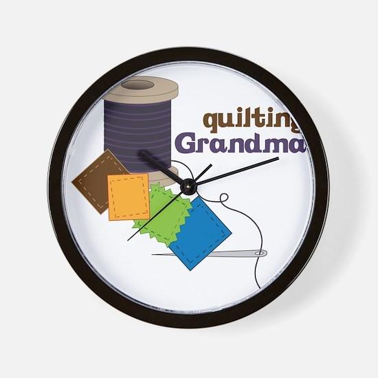 Quilting Grandma Wall Clock