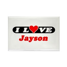 I Love Jayson Rectangle Magnet