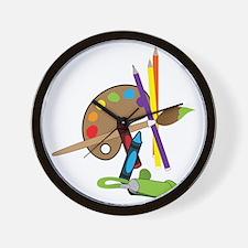 Artist Color Pallet Wall Clock