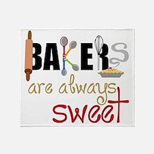 Bakers Are Always Sweet Throw Blanket