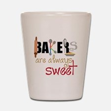 Bakers Are Always Sweet Shot Glass
