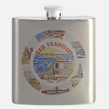 Vintage San Francisco Souvenir Graphics Flask
