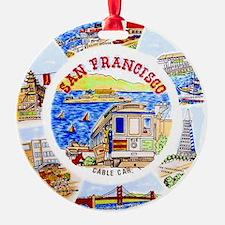 Vintage San Francisco Souvenir Grap Ornament
